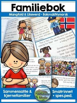 Norsk lesehefte: Familiebok! Sammensatte og kjernefamilier