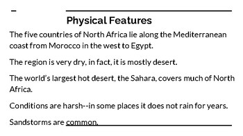North Africa--The Geography PowerPoint