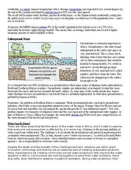 North Africa Water Scarcity Article, Questions, and DBQ's