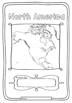 North America 23 Countries Study - worksheets maps and flags for each country