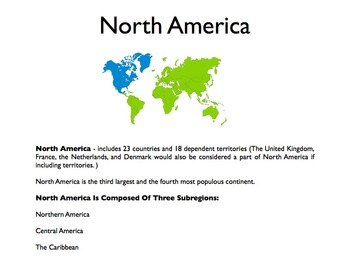 North America - A World Region PowerPoint