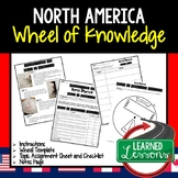 North America Activity, Wheel of Knowledge (Interactive Notebook)