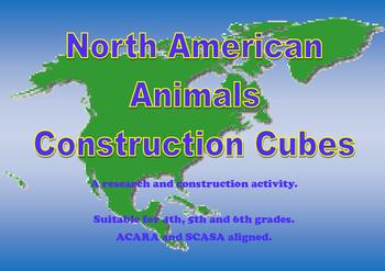 North America Animals Construction Cubes