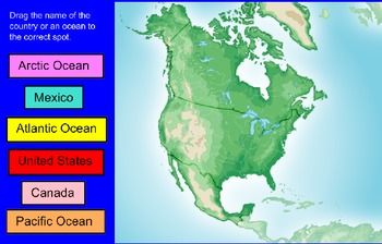 North America Basic Map Skills SMARTBoard Activites
