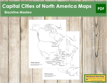 North America Capital Cities Map