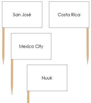 North America Capital Cities - Pin Map Flags