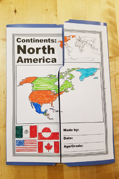 North America Continent Lapbook