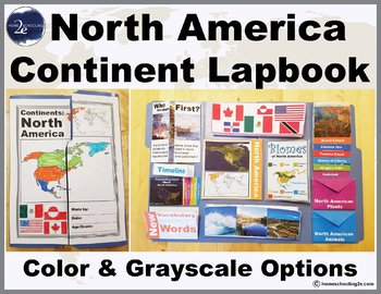 North America Continent Lapbook