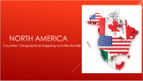 North America Countries Mapping Activities Bundle