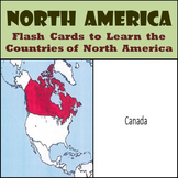 North America - Country Flash Cards - Learn the Countries of North America!