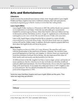 North America: Culture: Arts and Entertainment