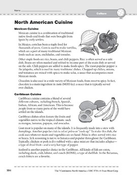 North America: Culture: Cuisine