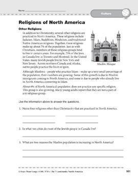 North America: Culture: Religions
