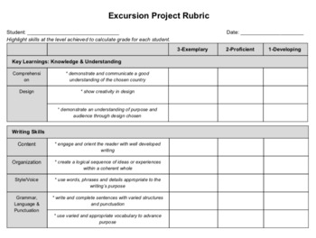 North America Excursion - Projects & PBL
