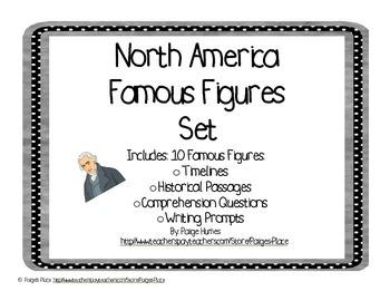 North America Famous Figures Set