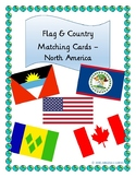 North America Flag & Country Matching Cards Set