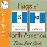 North America Flags 3 Part Cards D'NEALIAN