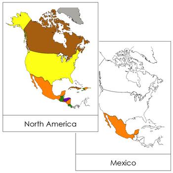 North America Flash Cards