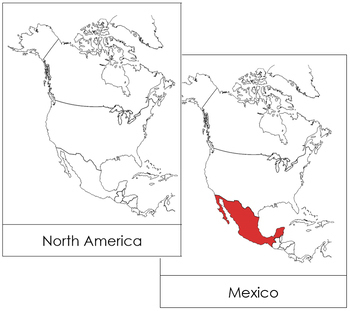 North America Flash Cards - Red