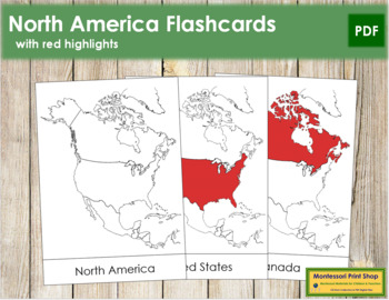 North America Flashcards (red)