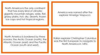 North America Fun Facts (color borders)