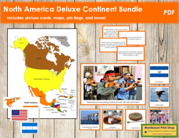 North America Geography Deluxe Bundle - Color Borders
