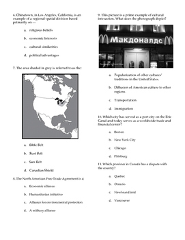 North America Geography Test