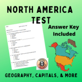 North America Geography Test Social Studies 6th Grade Middle School