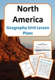 North America - Geography Unit Lesson Plans