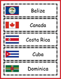 North America Geography - North America Countries Word Wall