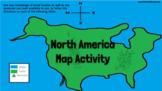 North America Google Slides Map Activity for Google Classroom