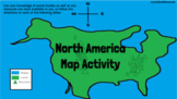 North America Google Slides Map Activity for Google Classroom