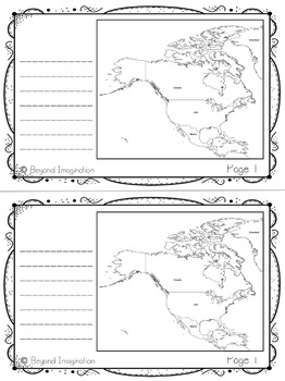 North America Continent | 48 Pages for Differentiated Learning + Bonus Pages