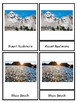 North America Landmark 3 part cards Montessori