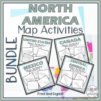 North America Map Activity BUNDLE || Geography on rubric for maps, uses for maps, clip art for maps,