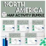 North America Map Activity BUNDLE