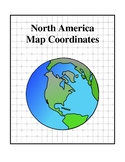 North America Map Coordinates - Social Studies and Geography