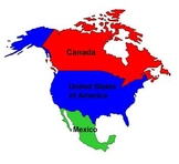 North America Map Labeling