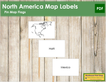 North America Map Labels - Pin Map Flags