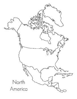 North America Map- Montessori