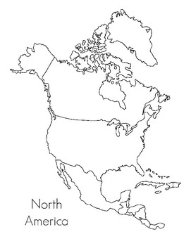 North America Map- Montessori