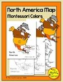 North America Map (Montessori Colors) Printable - Includes