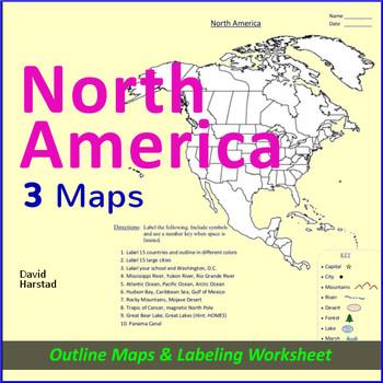 North America Map Worksheet
