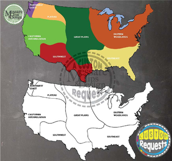 maps north america native american cultural regions messare clips and design