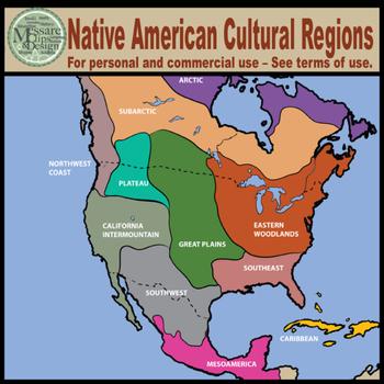 Maps: North America Native American Cultural Regions {Messare Clips ...