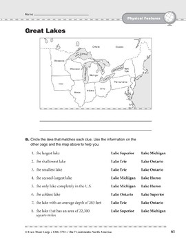 North America: Physical Features: Bodies of Water