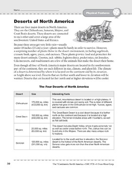 North America: Physical Features: Deserts