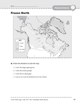 North America: Physical Features: Frozen North