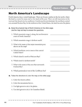 North America: Physical Features: Overview and Review