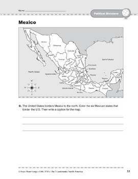 North America: Political Divisions: Mexico and Central America